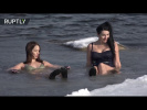 Bra-cing temperatures: Russian women brave icy waters in Far East